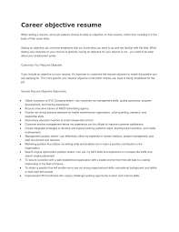Sample Resume Objectives For Information Technology Students New Career