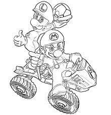 Coloriage Mario Kart Coloriages Pour Enfants