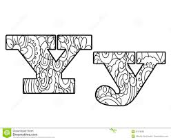 Anti Coloring Book Alphabet The Letter Y Vector Illustration
