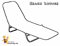 Coloring Page Of Beach Lounge Chair