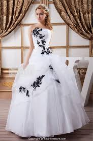 white black hourglass ball gown natural strapless outdoor garden