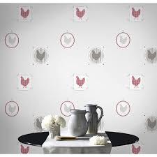 papier peint cuisine papier peint papier poule beige leroy merlin
