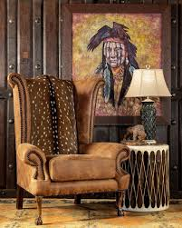 The Del Rio Suela Chair Features Authentic Axis Deer Hide ...
