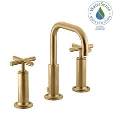 Kohler Bancroft Faucet Polished Nickel by Kohler Purist 8 In Widespread 2 Handle Mid Arc Bathroom Faucet In
