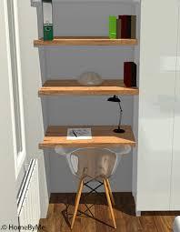 petit bureau chambre petit bureau de chambre bureau et etagere integree