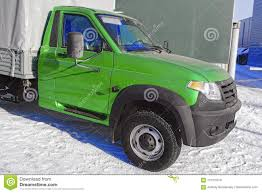 Small Truck With Green Cab Stock Photo. Image Of Blue - 110155016