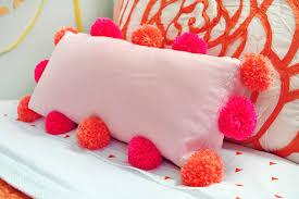 DIY Pom Poms on an Existing Pillow