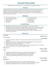Receptionist CV Template Admin Templates