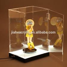 Organic Glass Led Acrylic Lighted Display Case For Hot Toys Prototype Wholesale