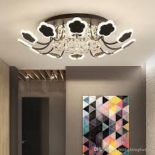 großhandel romantische blume kristall deckenleuchte runde led wohnzimmer le atmosphäre esszimmer beleuchtung romantische hochzeitszimmer