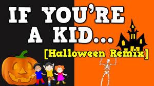 Shake Dem Halloween Bones Activities by If You U0027re A Kid Halloween Remix October Themed Song For Kids