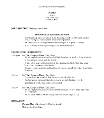 Chronological Template Free Resume And