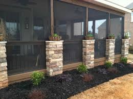 Screened In Porch Decorating Ideas And Photos by Backyard Screen Porch Ideas Backyard Fence Ideas