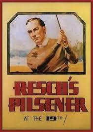 Image Is Loading Reschs Pilsener Golf Print Classic Retro Beer Premium