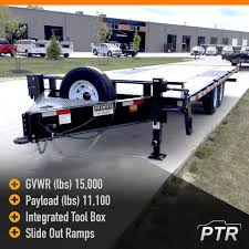 100 Work Truck Rental PTR Premier 85 X 20 15k Low Pro Deckover Trailers