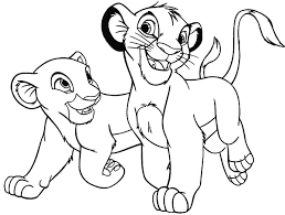 Lion King The Simba And His Girlfriend Coloring Page Exceptional Nala