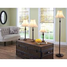 Bedside Table Lamps Walmart by Better Homes And Gardens 4 Piece Lamp Set Bronze Finish Cfl