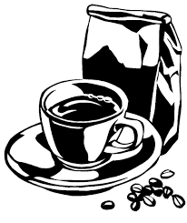 506x600 Black And White Coffee Cup Illustration