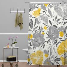 Yellow White And Gray Curtains by Interior Black Yellow And Gray Shower Curtain In Gray Painted