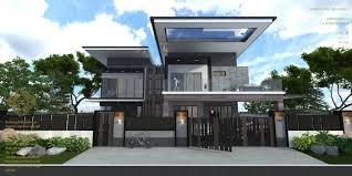 100 Modern Townhouse Designs Bungalow Design Horizon Hill Johor Bahrumalaysia Modern