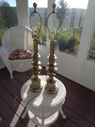 Stiffel Table Lamps Shades by A Pair Of Stiffel Table Lamp Brass 31 5