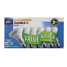 shop sylvania 6 pack 65 watt dimmable soft white br30 incandescent