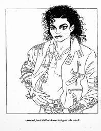 Coolest Michael Jackson Bad Coloring Pages