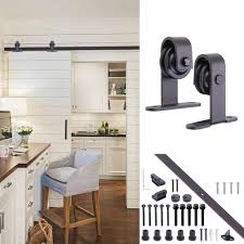 Yescom 6.6 Ft. Sliding Barn Door Track Antique Country Steel ... Sliding Barn Door Hdware Roller Steps Installing Winsoon 516ft Bypass Double Track Kit Doors Rollers How To Make A Sliding Door And The Hdware Yourself Super Diy Wilker Dos Trendy Design Ideas Of Home Interior Kopyok Everbilt Dark Oilrubbed Bronze Steel Decorative Free Shipping Single Antique Epbot Make Your Own For Cheap