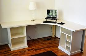 Ikea Borgsjo White Corner Desk by Ana White Corner Desk Modular Desk Finally Finished Sewing