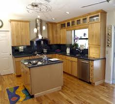 KitchenElegant Small Kitchen Idea With Lovely Set And Island Stove