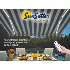 SunSetter Dimming LED Awning Lights Home Decor Appealing Patio Awnings Perfect With Retractable Sunsetter Cost Prices Costco Motorized Lawrahetcom Sizes Used Awning Parts Vista Canada Cheap For Sale Sydney Repair Nj Gallery Chrissmith Replacement Fabric Manual Oasis Images Balcy