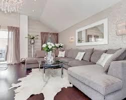 Beautiful Metallic Silver Living Room Wallpaper