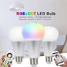 aliexpress buy mi light rgb cct led bulb light mr16 gu10 e14