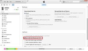 How to Sync iPhone iPad with iTunes Wirelessly