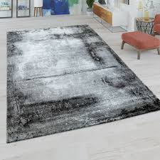 kurzflor teppich marmor muster grau weiß