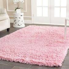 4 X 6 Shag Pink Area Rugs Rugs The Home Depot