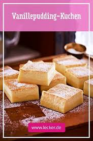 vanillepudding kuchen rezept lecker vanillepudding