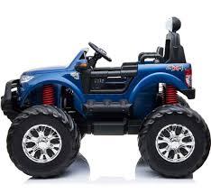 100 Kids Monster Trucks Ford Ranger Ride On Truck 4Wd Metallic Blue