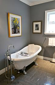 Small Bathroom Free Standing Clawfoot Tub. Benjamin Moore Dior Gray ... Choosing A Shower Curtain For Your Clawfoot Tub Kingston Brass Standalone Bathtubs That We Know Youve Been Dreaming About Best Bathroom Design Ideas With Fresh Shades Of Colorful Tubs Impressive Traditional Style And 25 Your Decorating Small For Bathrooms Excellent I 9 Ways To With Bathr 3374 Clawfoot Tub Stock Photo Image Crown 2367914