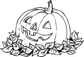 Halloween pumpkin leaves clipart