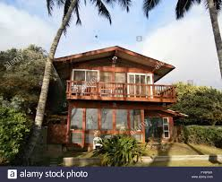 100 Picture Of Two Story House Red Beach With Tall Coconut Trees On Oahu Hawaii
