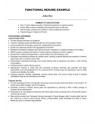 exles of summary of qualifications for resume