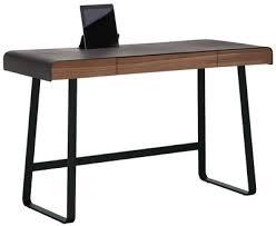 bureau en cuir bureau pegasus plateau cuir pleine fleur plateau noyer cuir moka