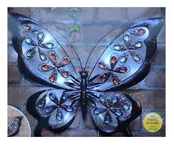Amazing Butterfly Garden Wall Art Solar Powered Light Home