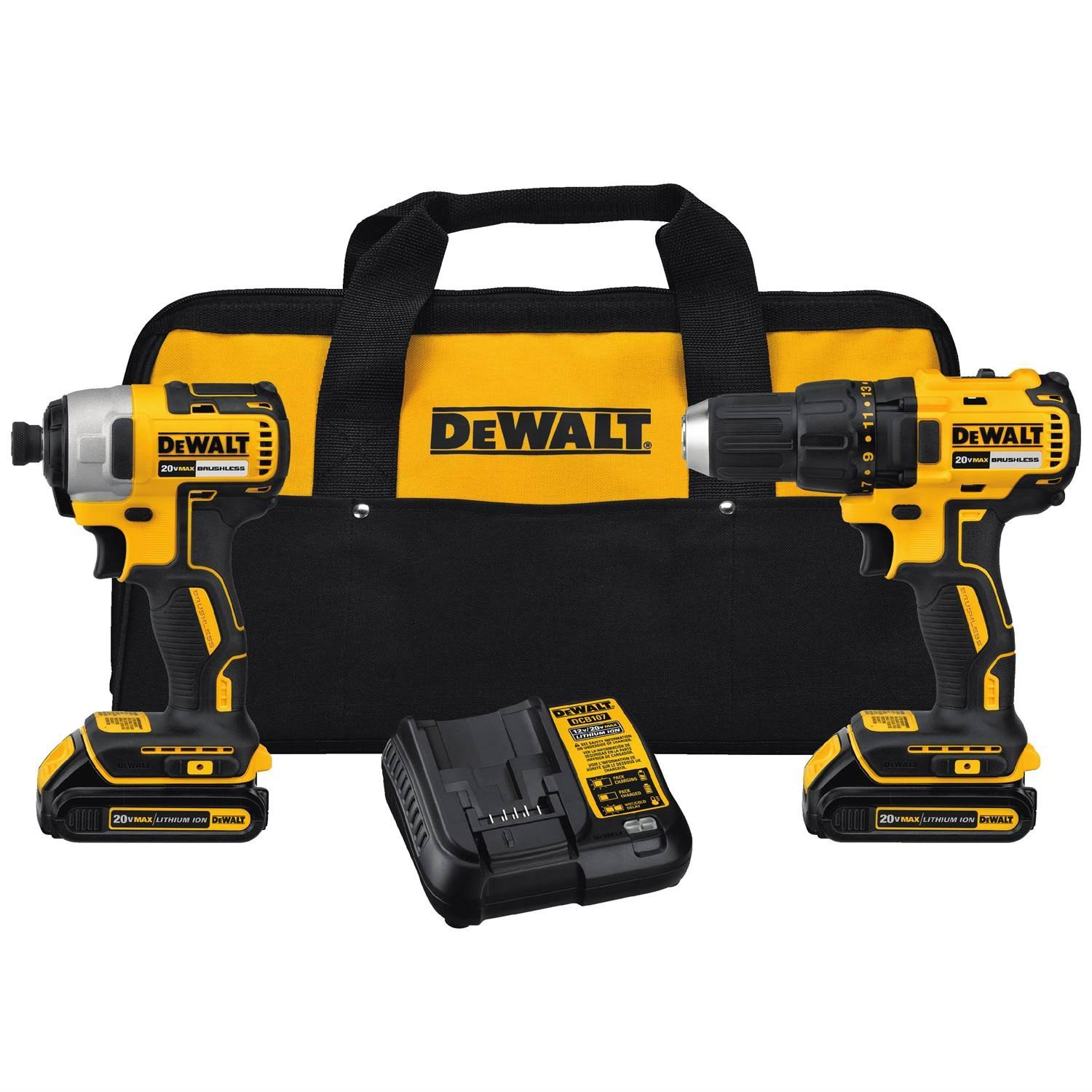 Dewalt Lithium-Ion Cordless Drill and Impact Combo Kit - 20V