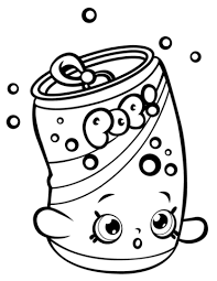 Click To See Printable Version Of Soda Pops Shopkin Coloring Page