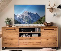 wohnzimmer set massivholz 321x165x42cm balkeneiche