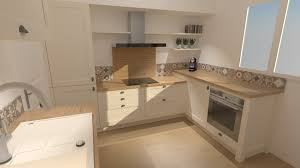 cadre cuisine cuisine beige et bois style cagne chic