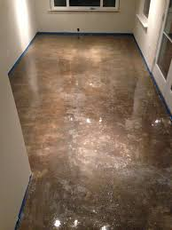 100 Solids Epoxy Garage Floor Paint by Concrete Floor Refinishing 100 Solid Epoxy Application Before
