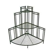 Outdoor Patio Plant Stands by 2 Tier Corner Decor Shelf Plant Stand Indoor Outdoor Black Accent